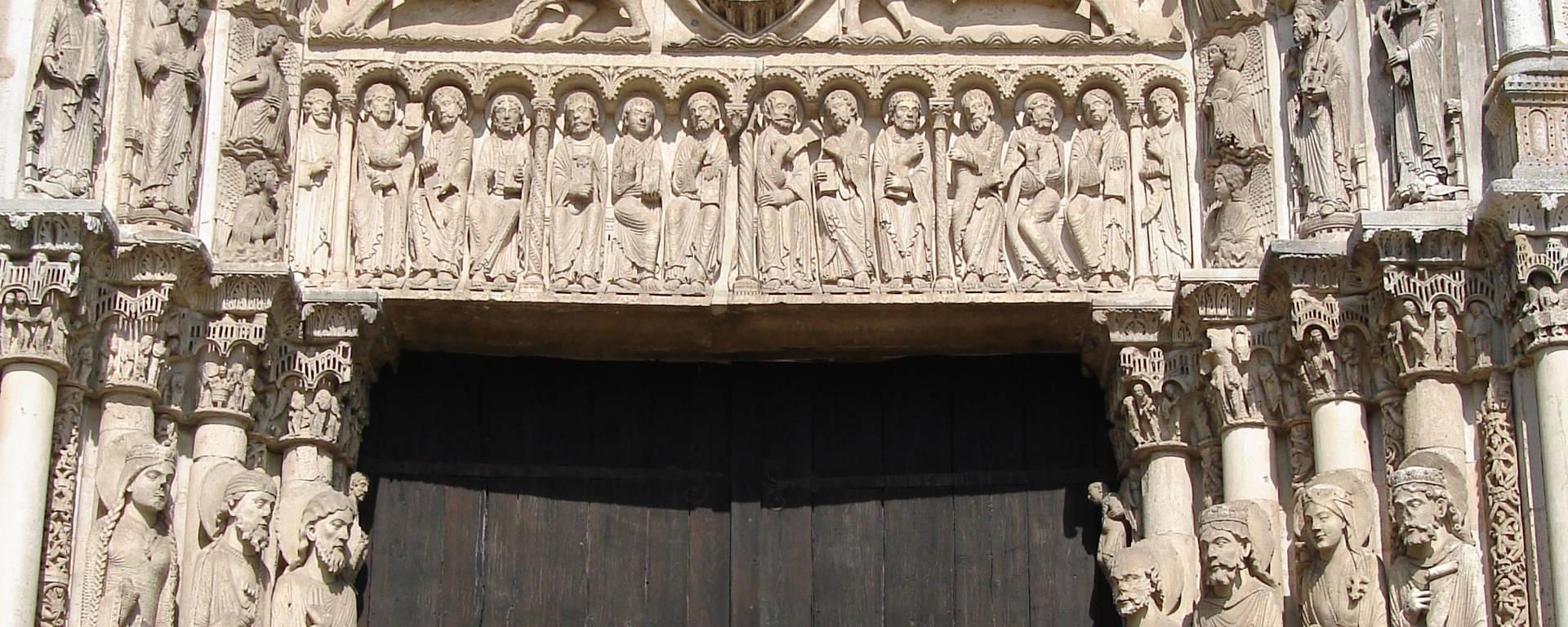 Détails du Portail Royal de la cathédrale de Chartres