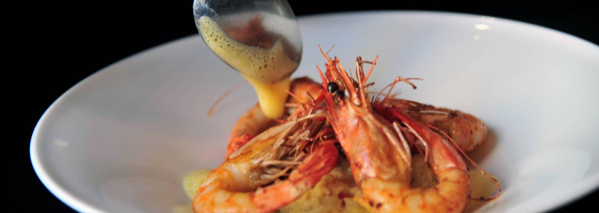 Crevettes cuisinées au Café Bleu à Chartres