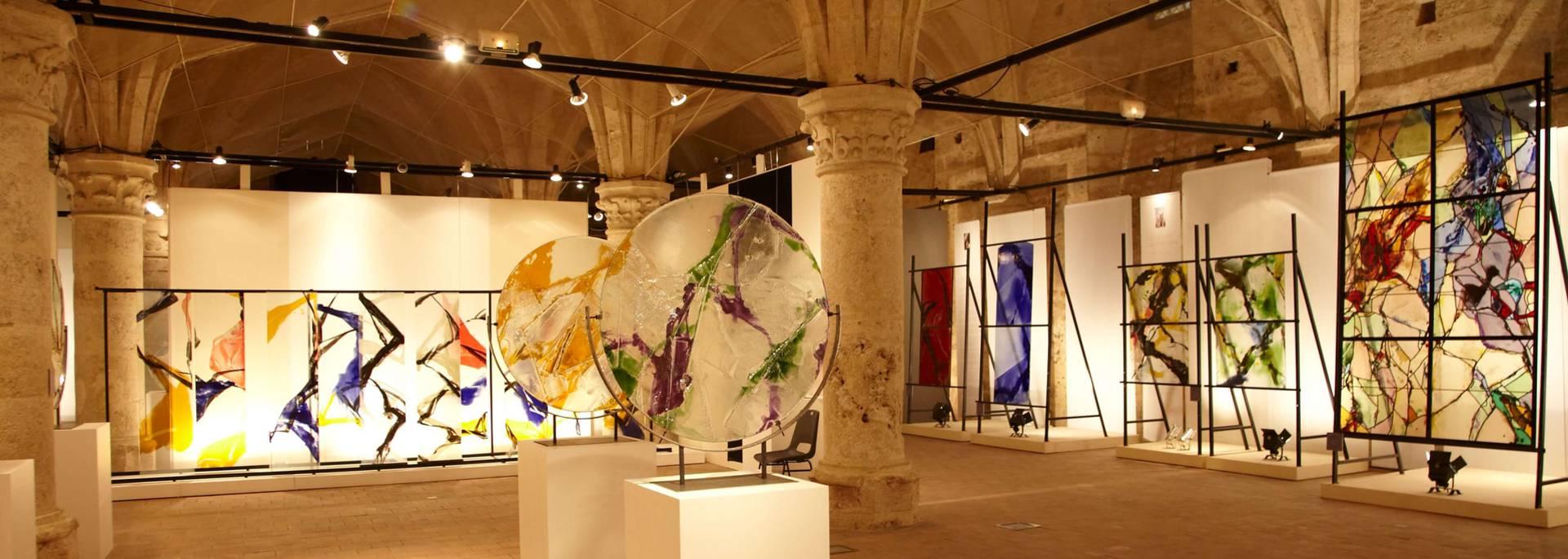 Exposition au sous-sol du Centre International du Vitrail à Chartres