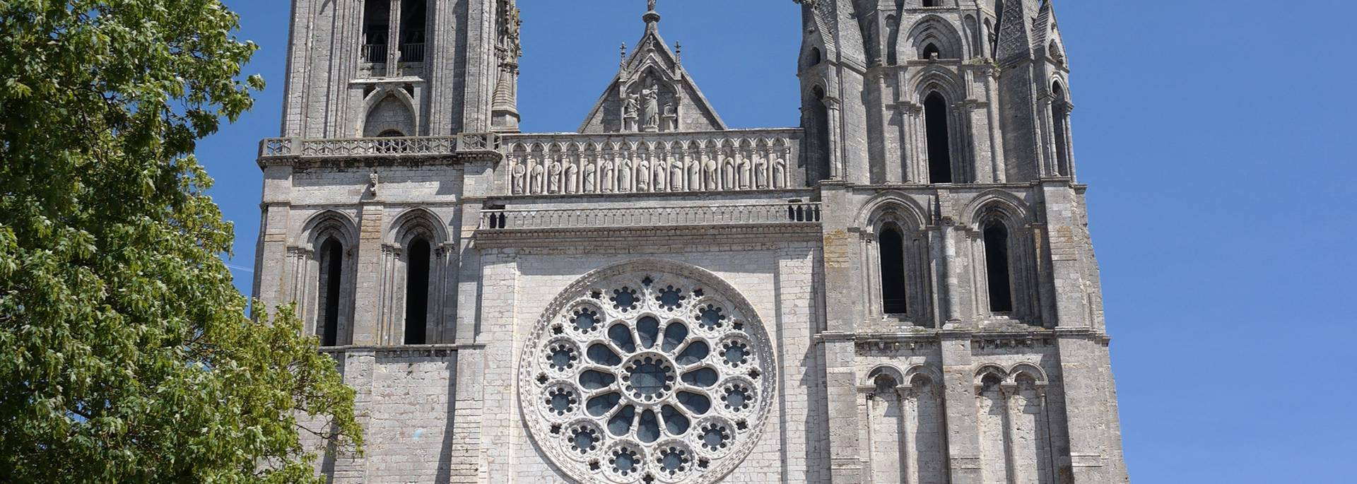 Chartres cathedral in spring