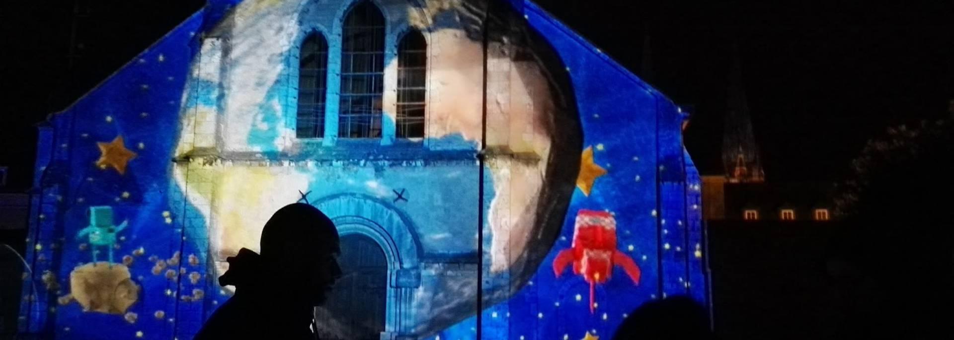 Vue de la scénographie de l'Église Sainte Foy