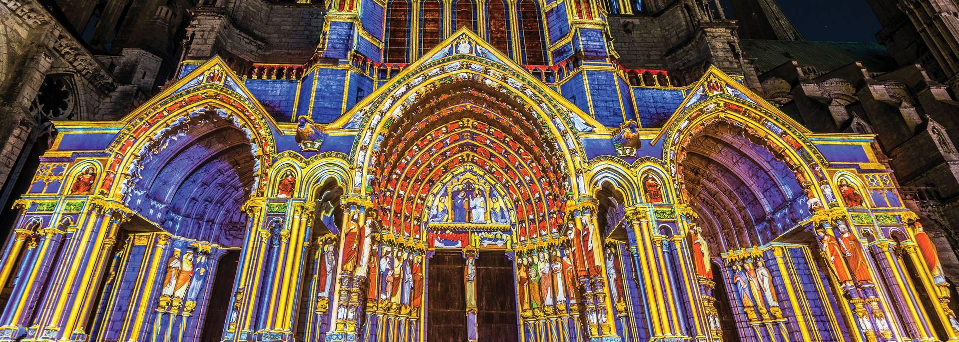 Portail Nord - Chartres en lumières