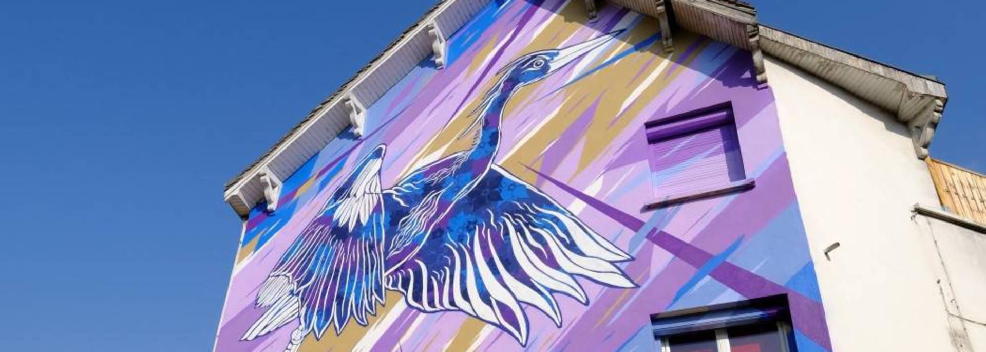 Oeuvre de street art à Chartres