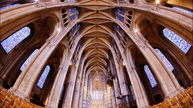 Nave of Chartres cathedral