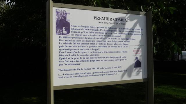 Panneau descriptif sur la route Jean Moulin