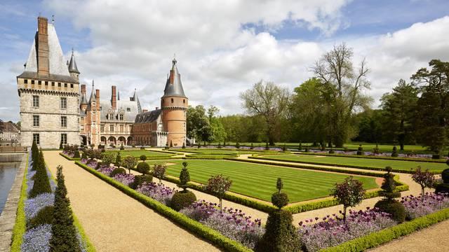 Vue des jardins du château de Maintenon