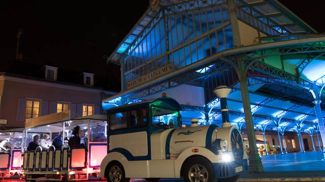 Balade en petit train touristique lors de Chartres en lumières