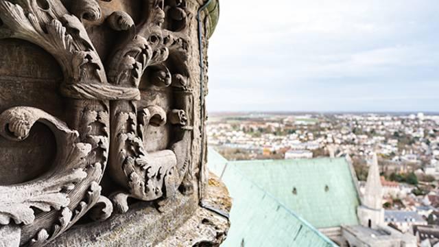 Vue du haut de la cathédrale de Chartres