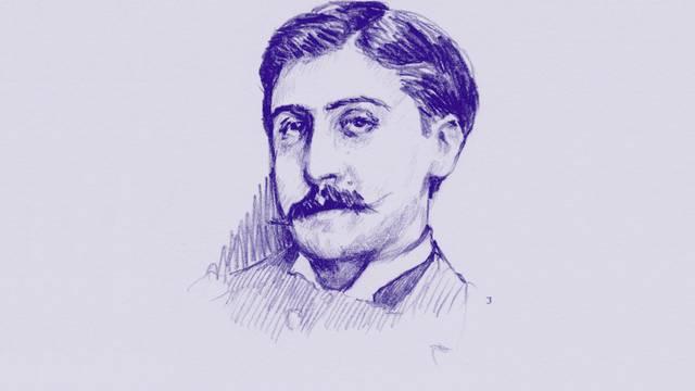 Gravure de Marcel Proust