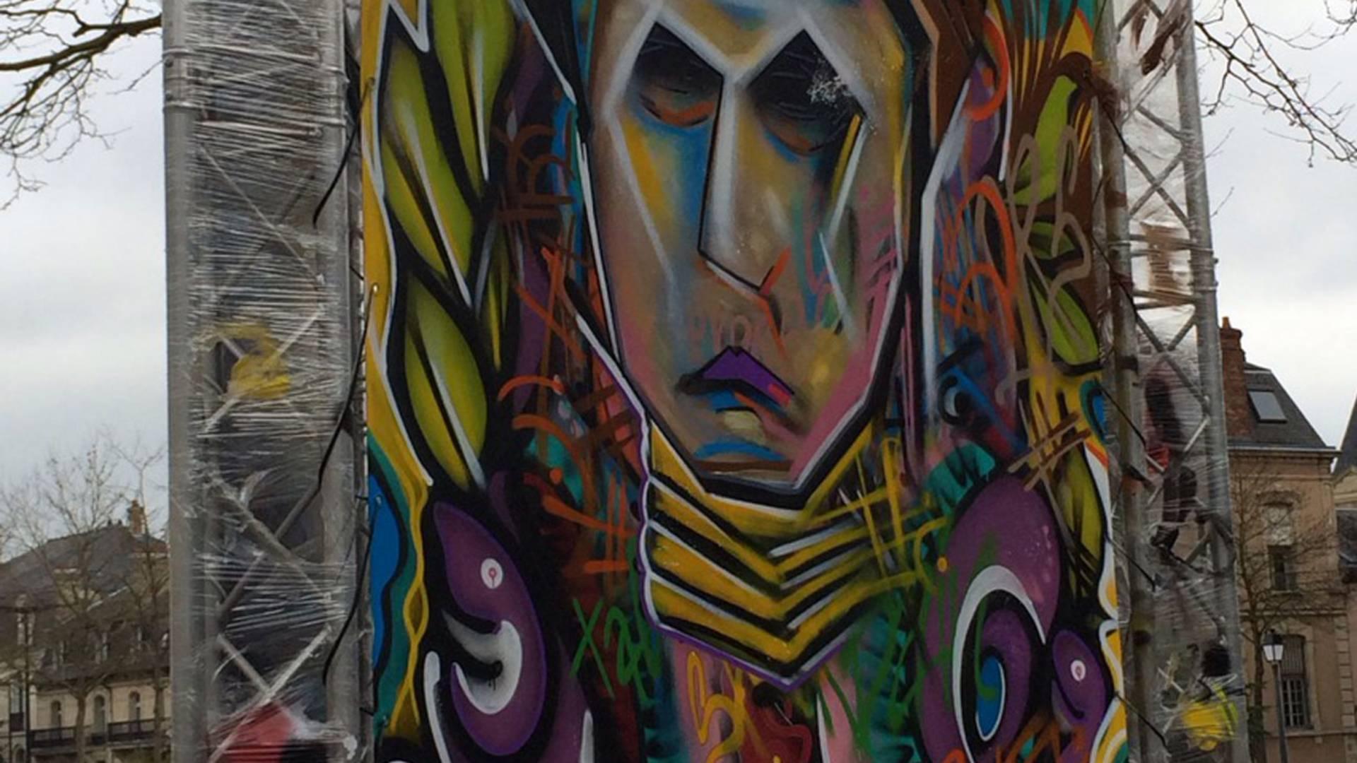 Street-Art lors du Boulevard du Graff