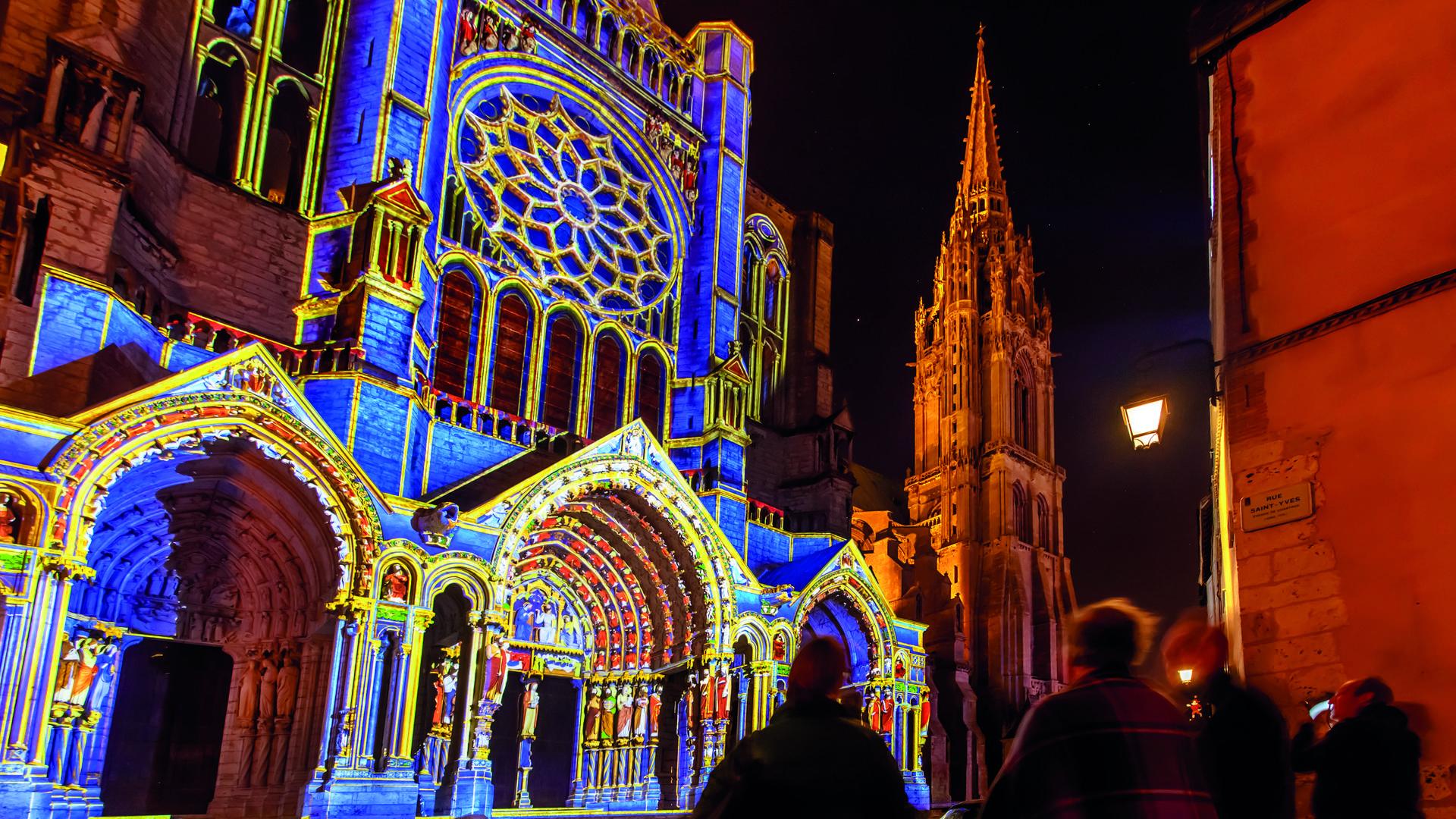 Illuminations du portail Nord de la cathédrale