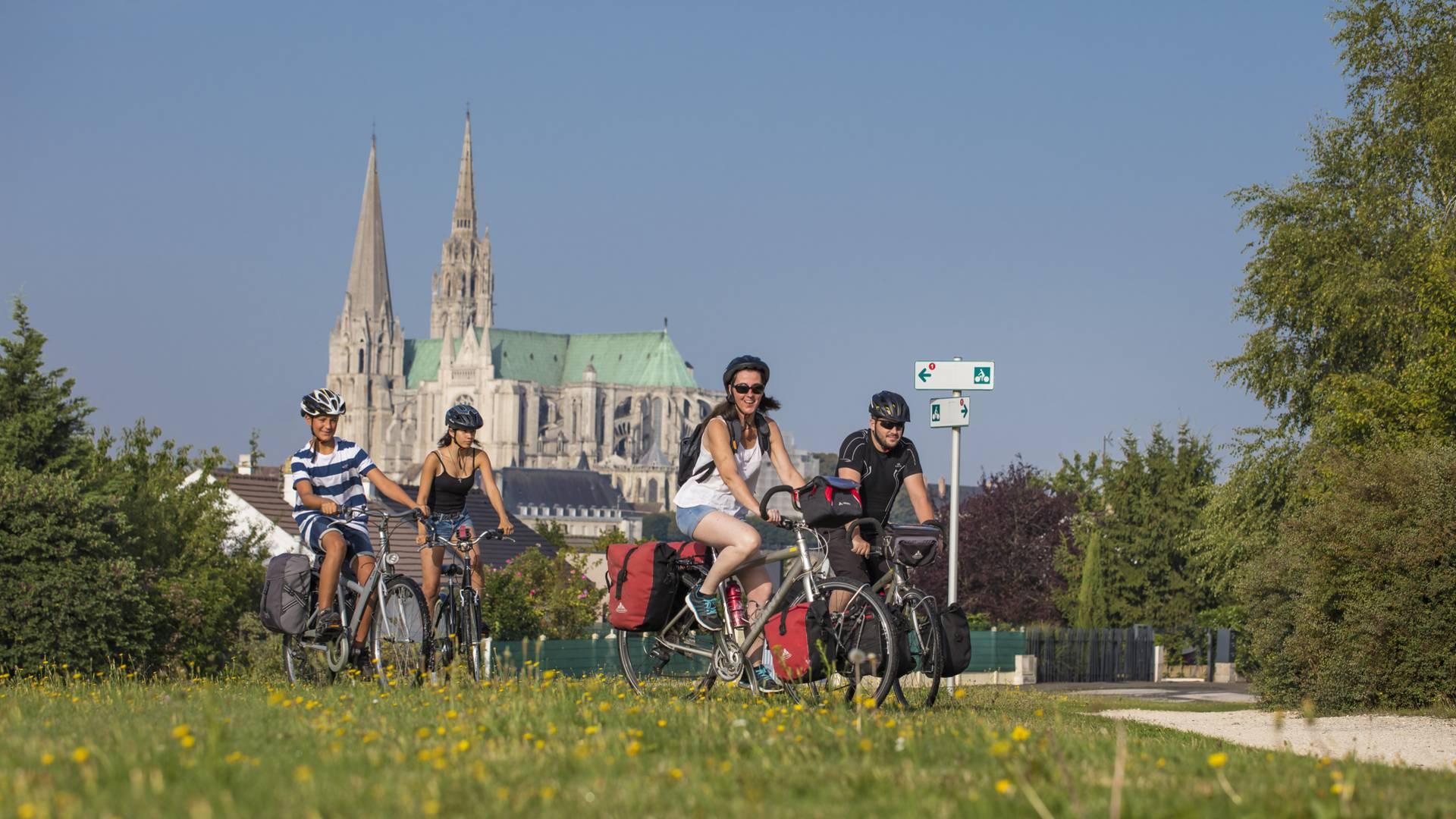 Balade vélo sur le plan vert