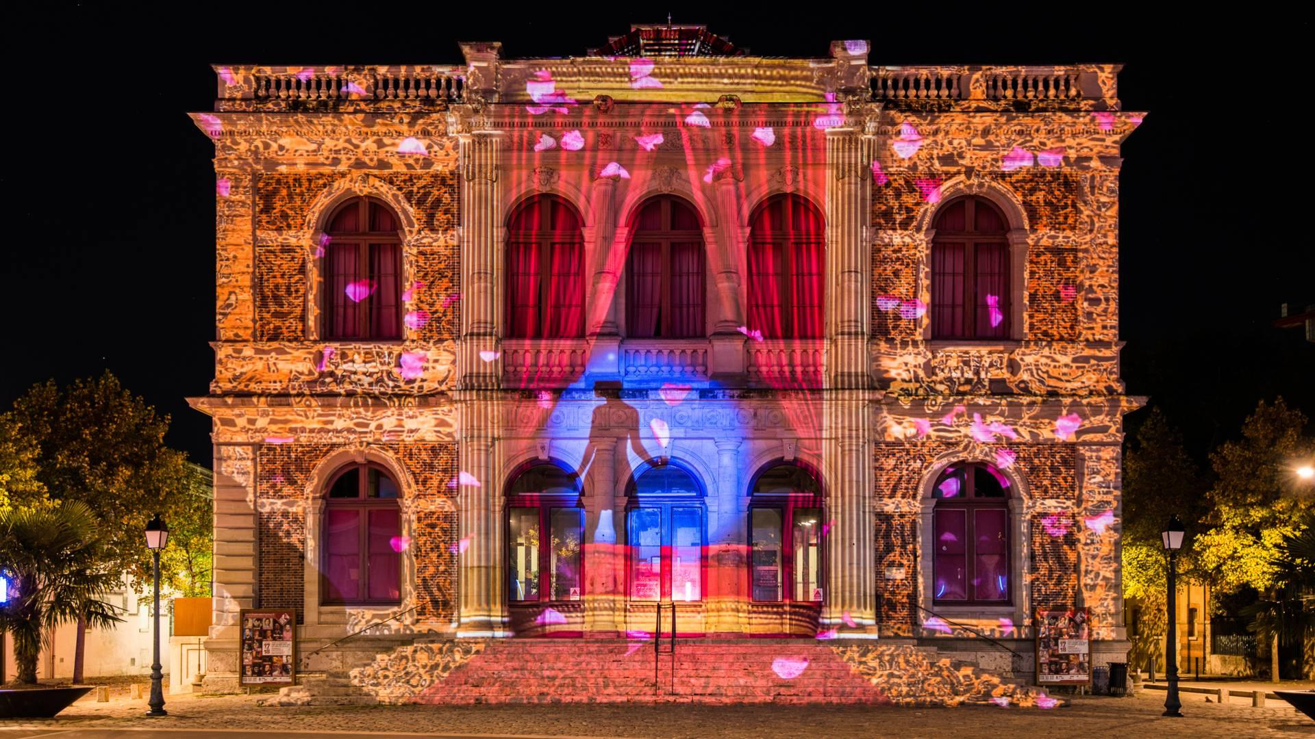 Illumination du théâtre à l'italienne de Chartres
