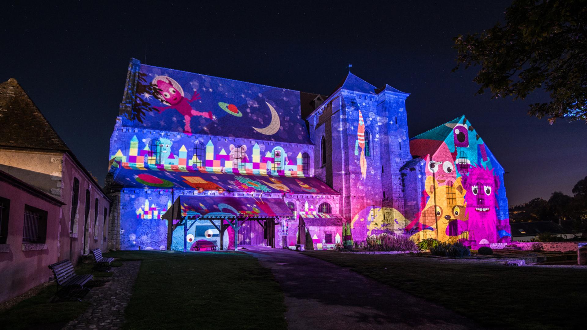 Illumination de la collégiale Saint-André pour Chartres en lumières