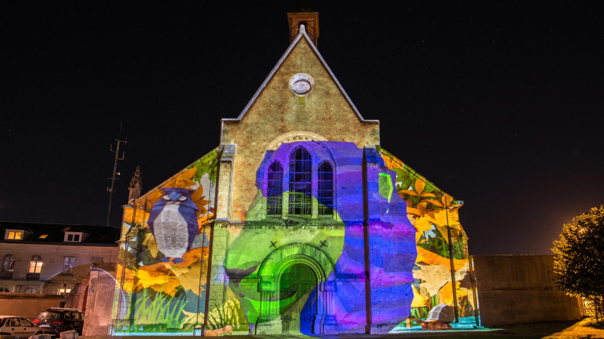 Illumination de la Galerie de Chartres pour Chartres en lumières