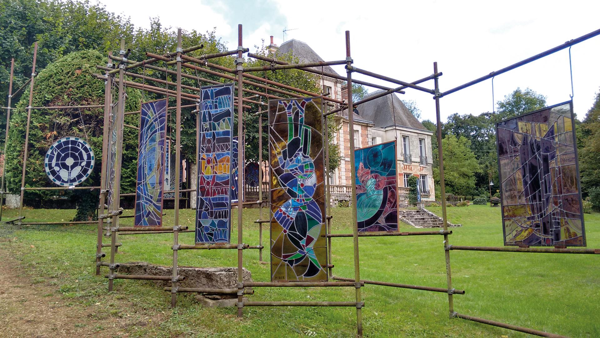 Vitrailleraie sur le domaine des Ateliers Loire à Lèves