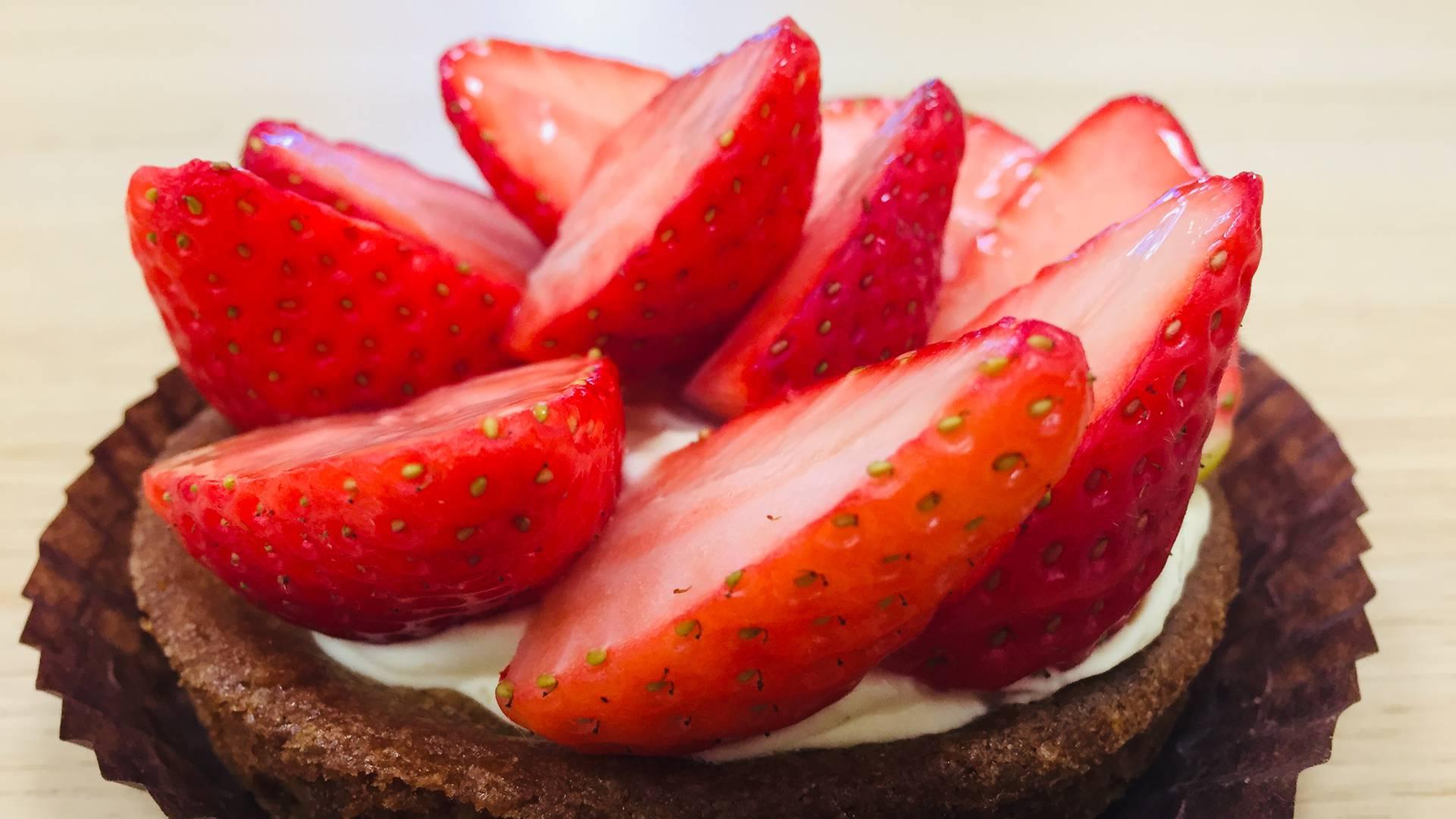 Tarte aux fraises à la boulangerie de Maintenon
