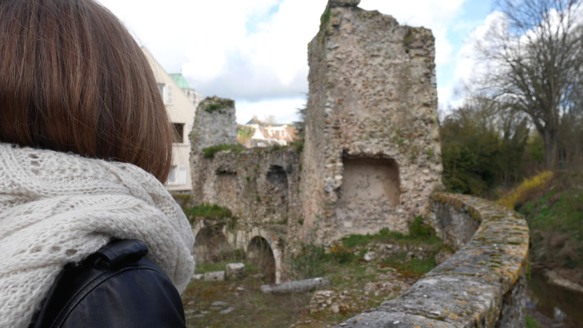 Vue depuis la Porte Guillaume à Chartres