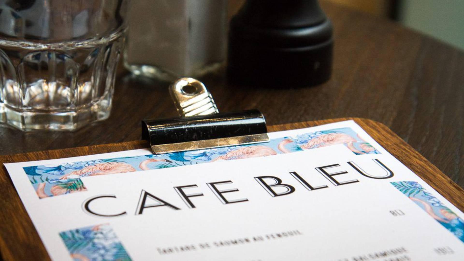 Carte du café bleu