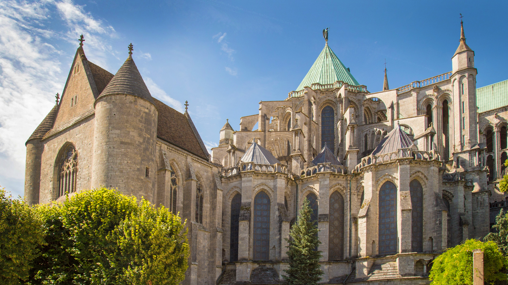 Chevet de la cathédrale de Chartres