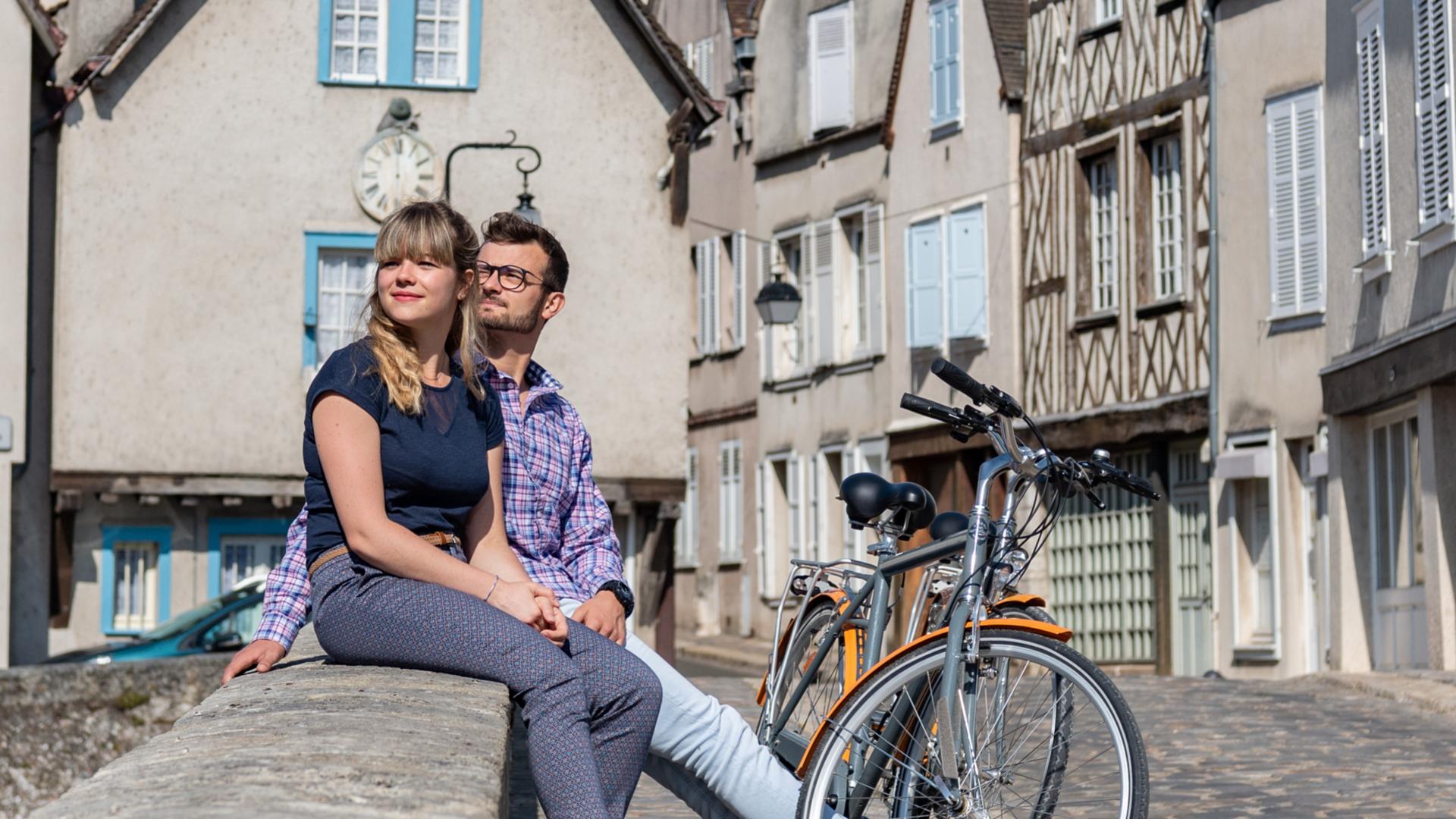 Pause à vélo sur le Pont Bouju