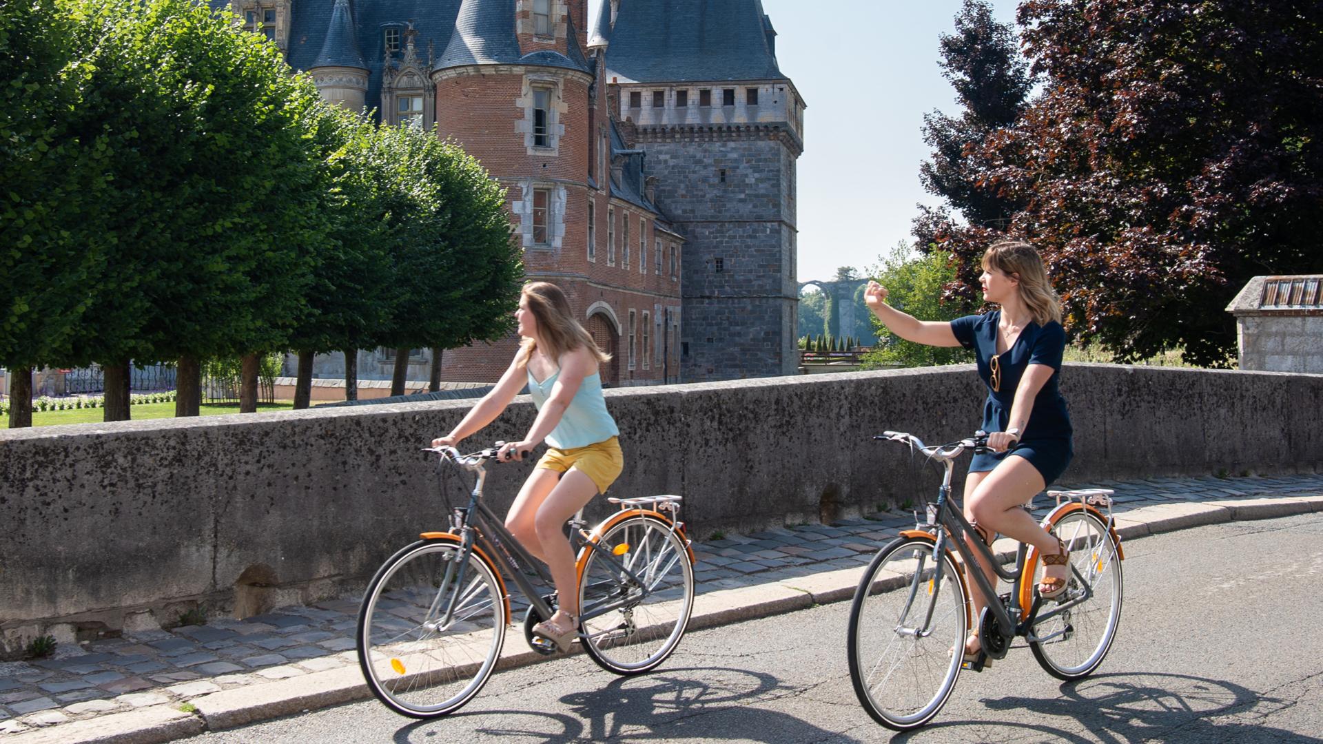 Balade à vélo proche du château de Maintenon