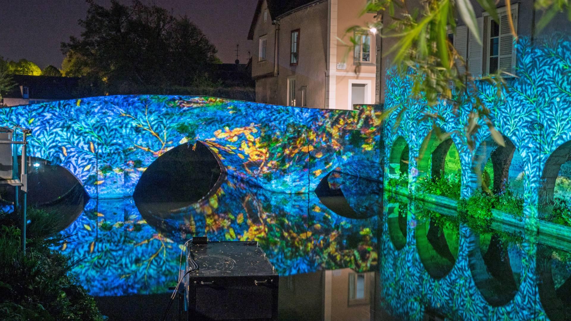 Pont Saint-Hilaire lors de Chartres en lumières