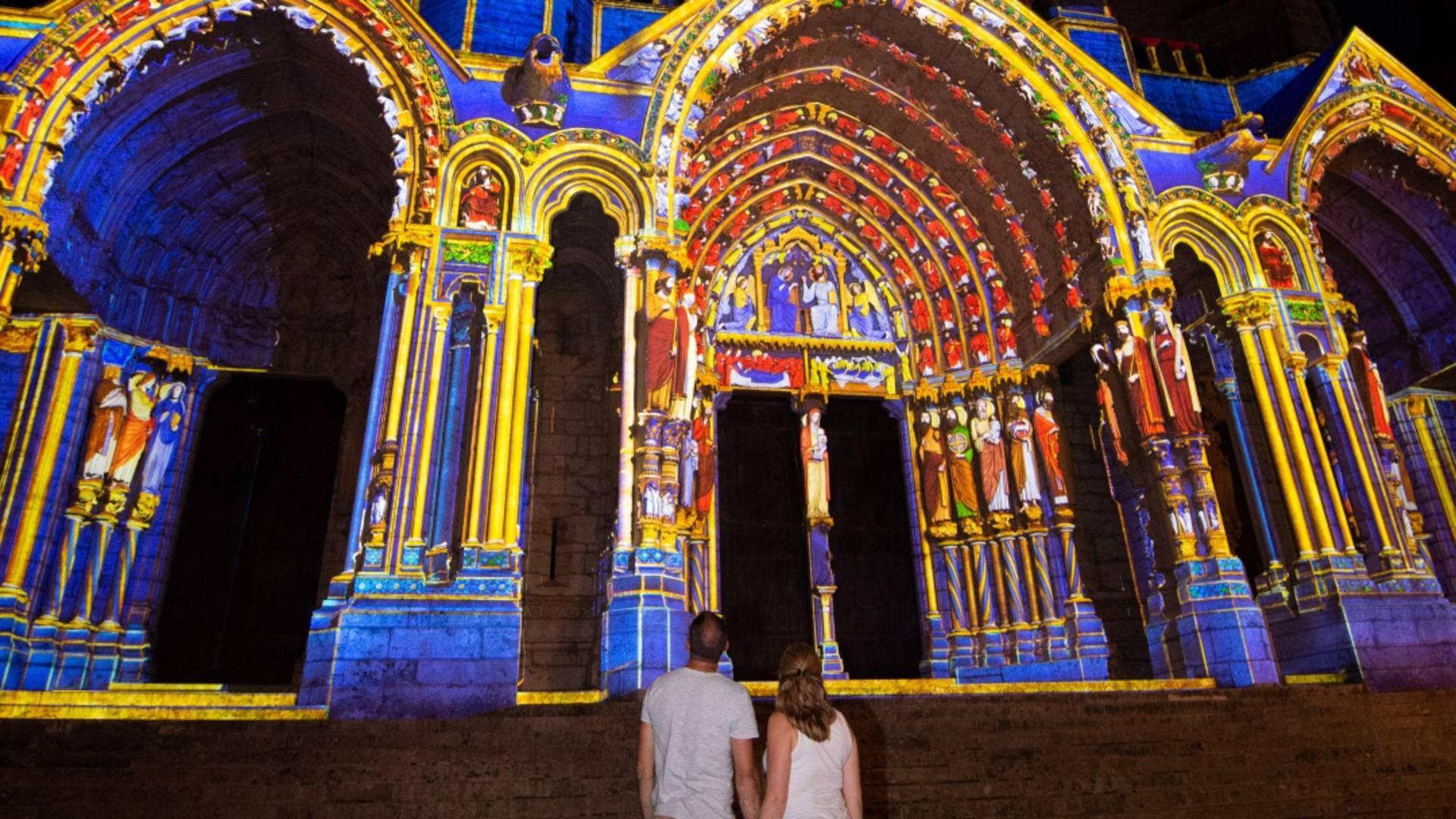 Chartres en lumières en couple