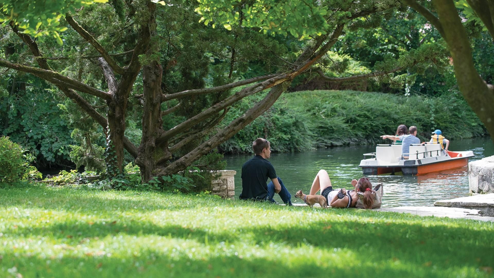 Balade dans le parc des bords de l'Eure