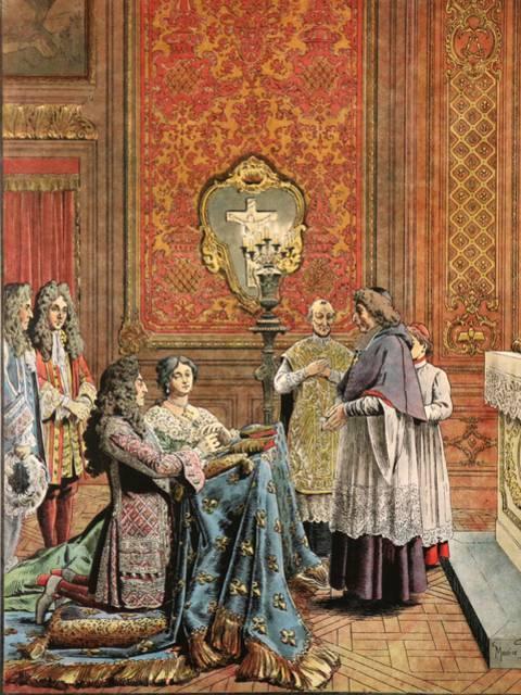 Le Roy Soleil et Madame de Maintenon de Maurice Leloir
