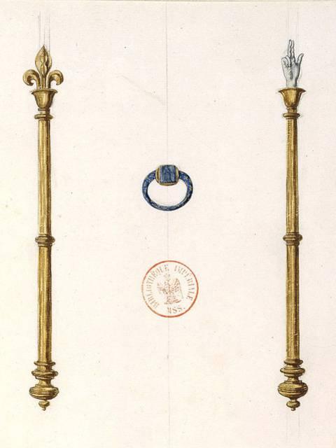 Illustration des attributs royaux d'Henri IV - © BNF (libre de droits)