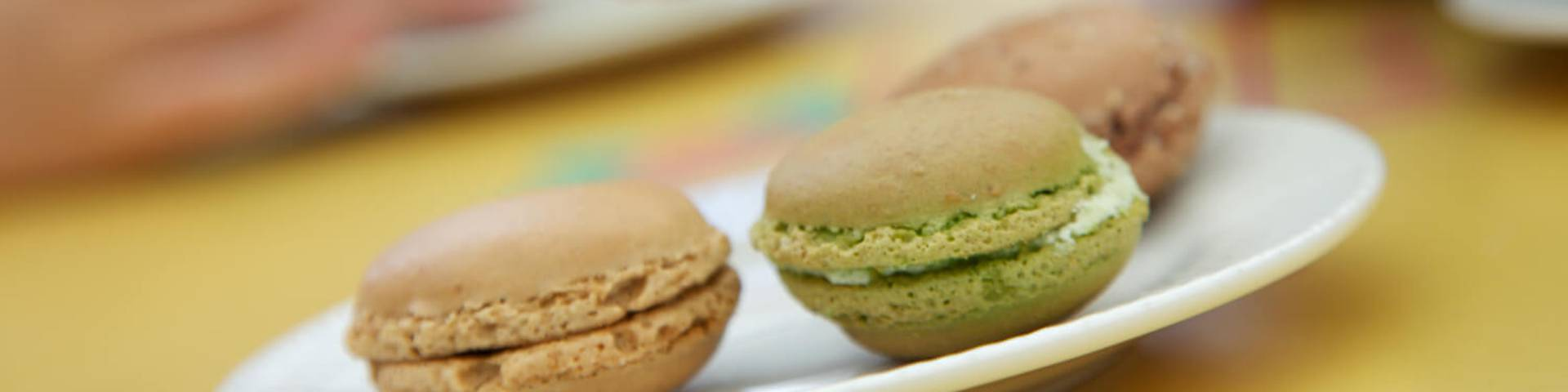 Macaroon tasting for elevenses