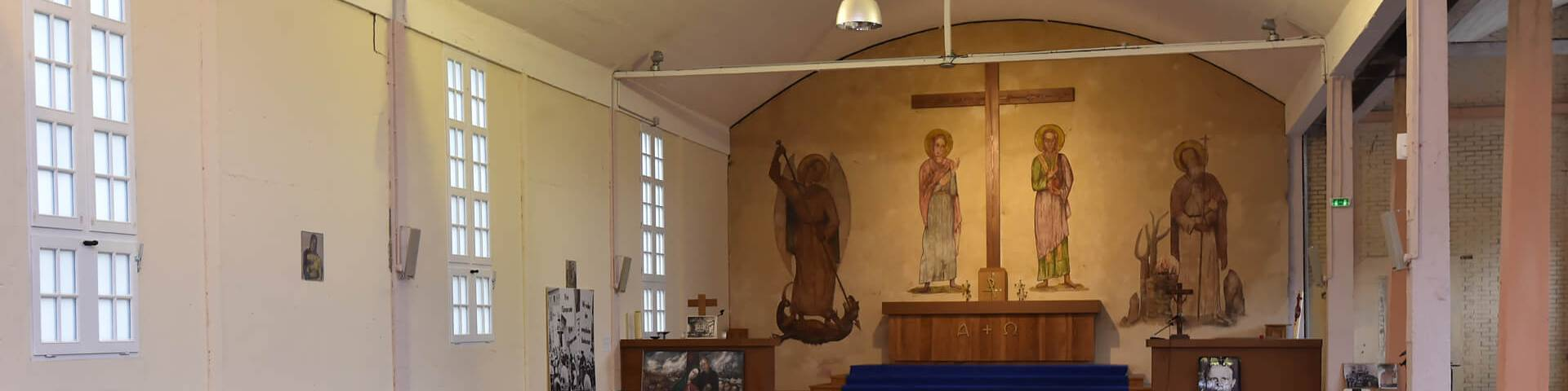 Fresque de Franz Stock au Séminaire des Barbelés