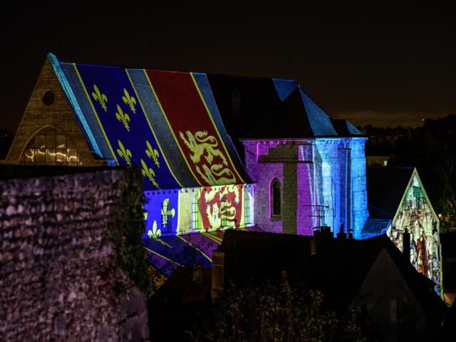 Collégiale Saint-André illuminé à Chartres
