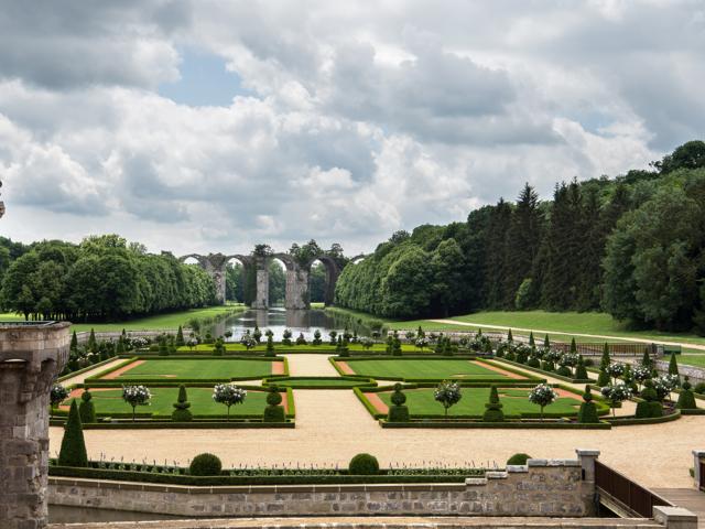 Vue sur les jardins du château de Maintenon