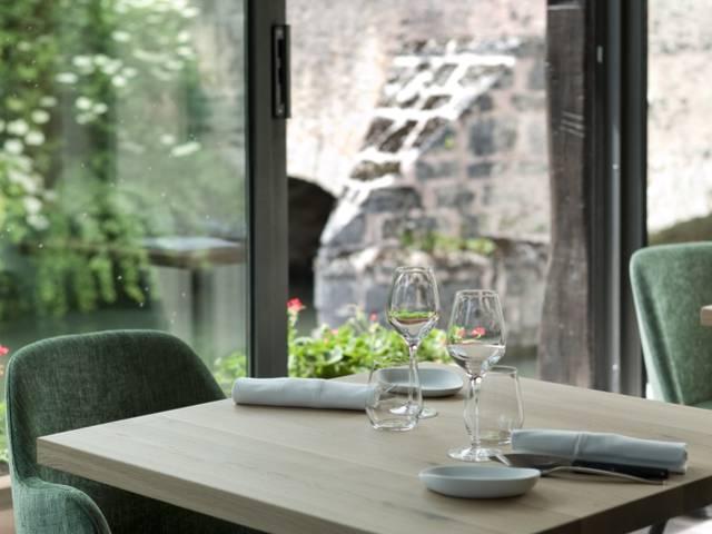 Vue depuis la véranda du restaurant - © Moulin de Ponceau