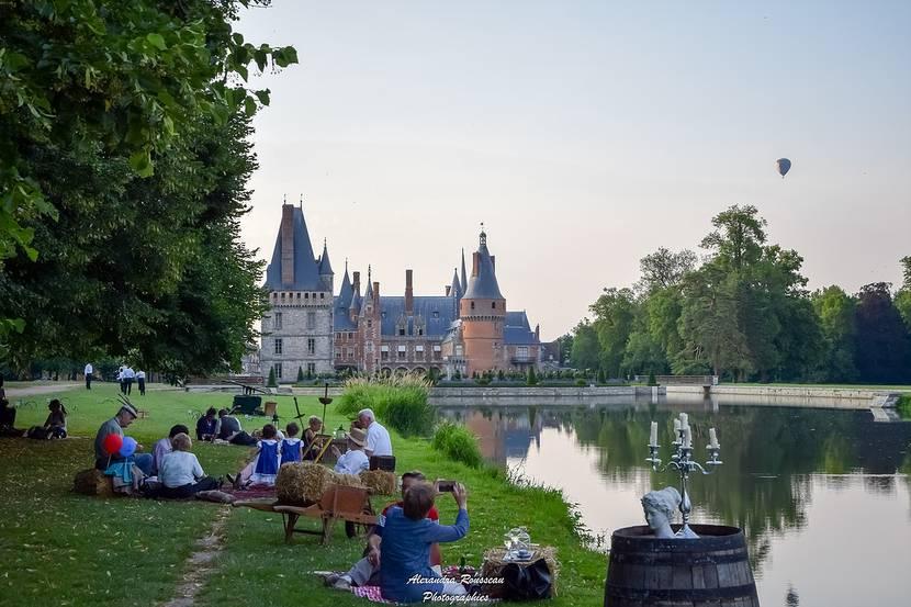 Parties de campagne avec vue sur le château de Maintenon