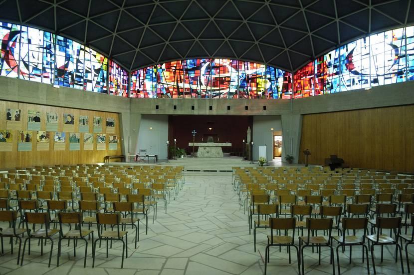 Intérieur de l'église de Rechèvres