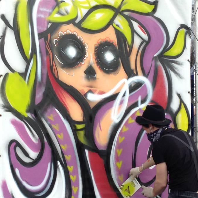 Street-art à Chartres lors du Boulevard du Graff