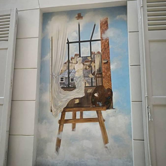 Fresque Atelier d'artiste