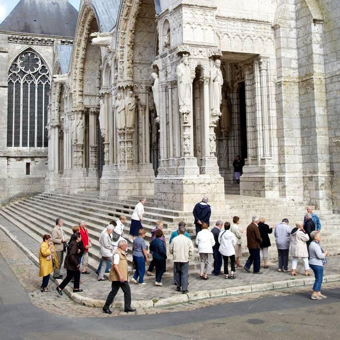 groupe à la cathédrale de Chartres