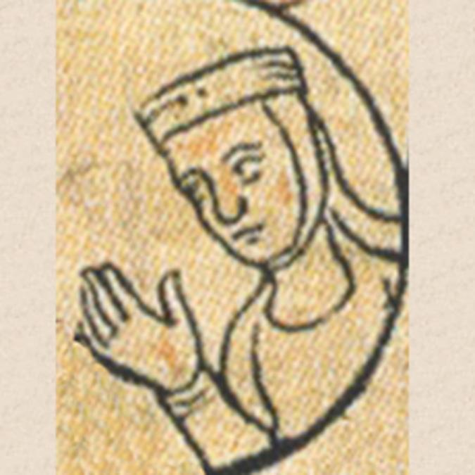 Portrait de Berthe de Bourgogne par un auteur anonyme