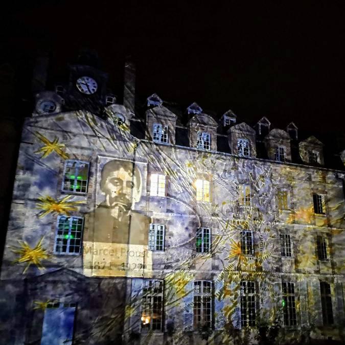 Eurélium, hommage à Proust - © création : Lumière de Verre - photo : Véronique Domagalski
